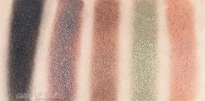 Swatches of Wet n Wild Color Icon Eyeshadow Palette in Comfort Zone Bottom