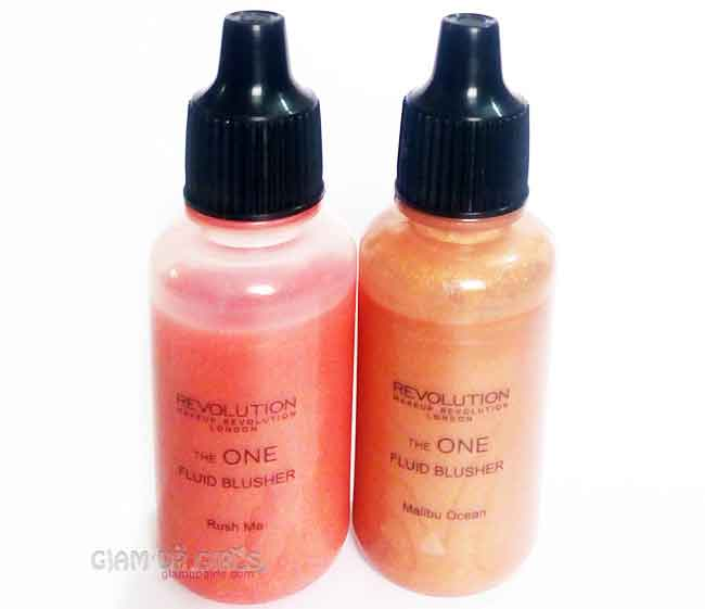 Makeup Revolution The one Fluid Blusher in Rush Me and Malibu Ocean