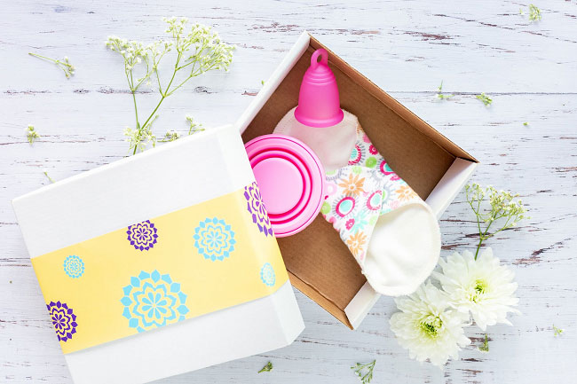 The menstrual cups are a great alternative to tampons