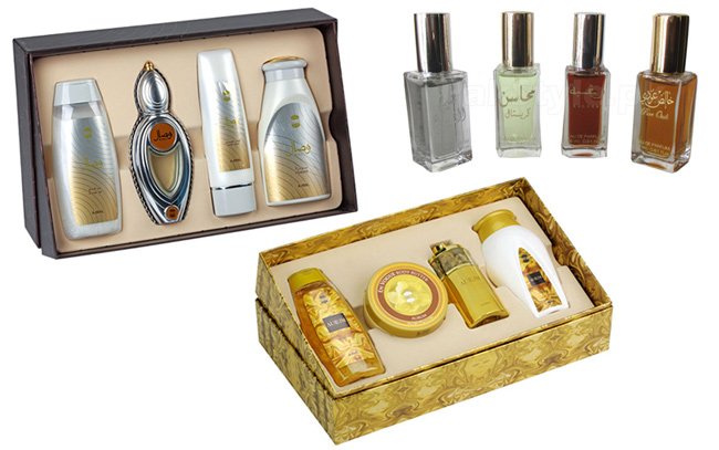 Pack and gift sets of Arabian perfumes