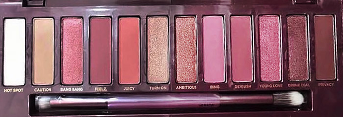 Urban Decay Naked Cherry Eyeshadow Palette Close Up