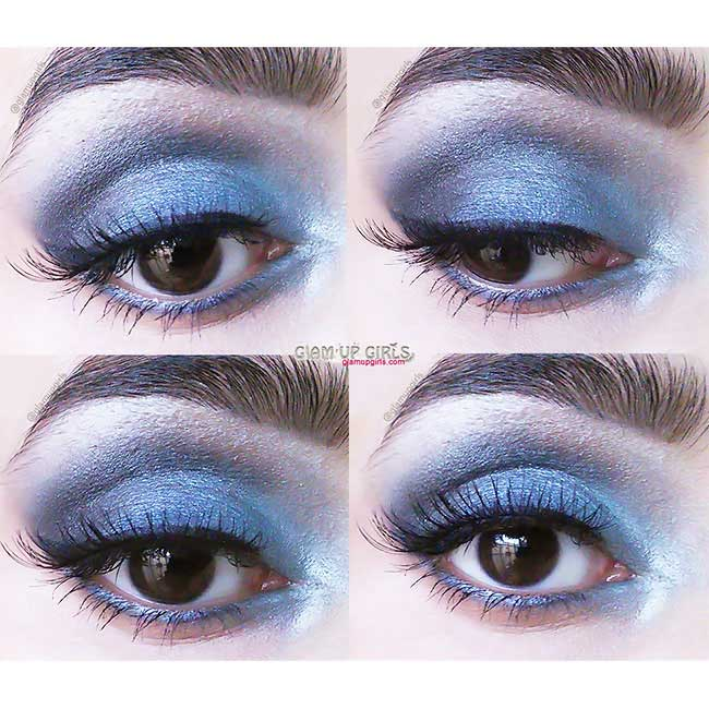 Blue Smokey Eye Look - EOTD