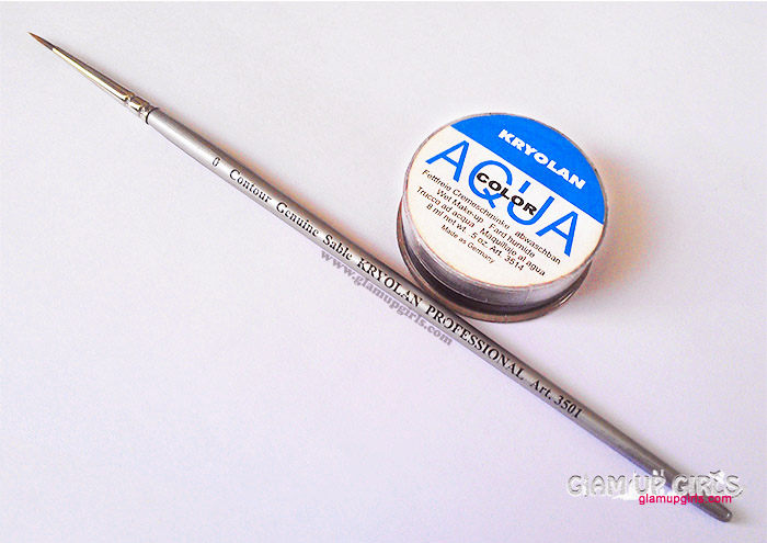 Kryolan Aqua Color Cake Eyeliner and Professional Round Brush 0 - Review