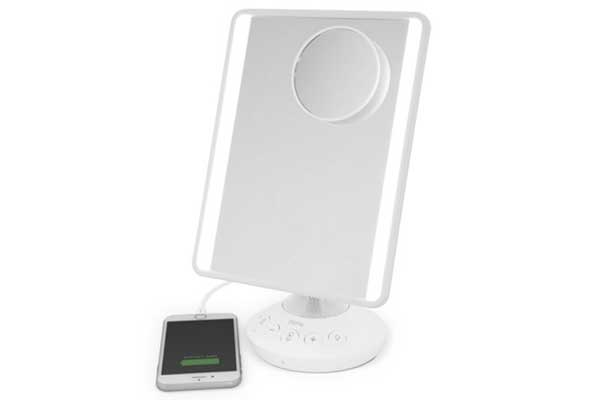 iHome Mirror with Bluetooth Audio, LED Lighting