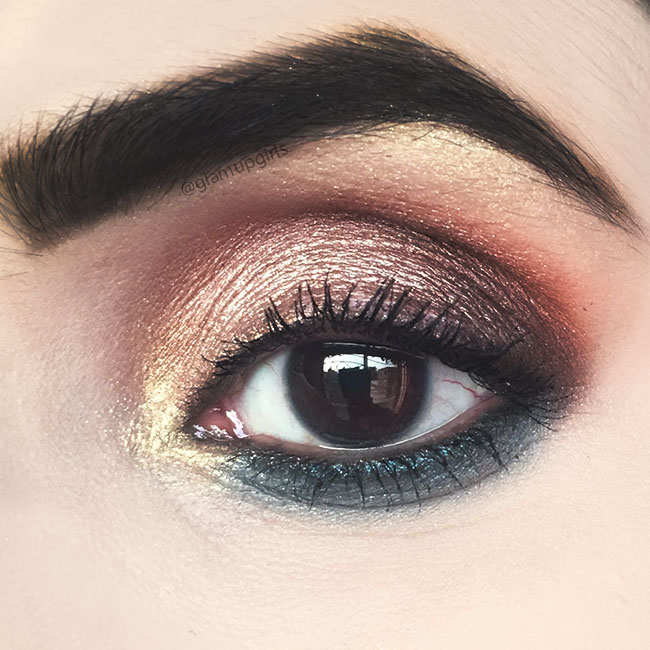 Rosy Turquoise Eye Makeup Look with ColourPop chasing rainbows eyeshadow palette