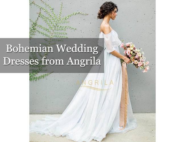 Bohemian Wedding Dresses from Angrila
