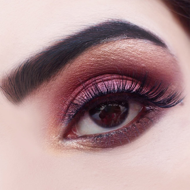 Gold Burgundy Eye Look - EOTD