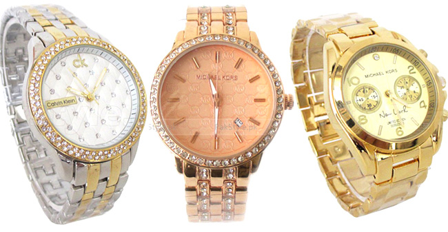 Chain wrist watches for women