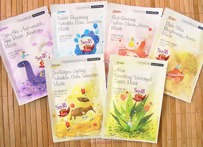 Four Season Facial sheet Masks from Skin18 - Review