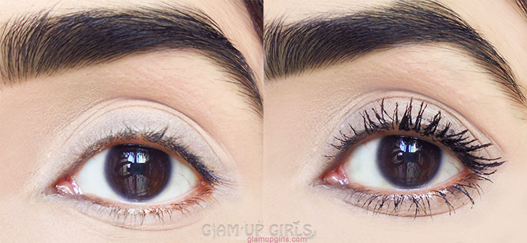 L'Oreal Paris Voluminous Lash Paradise Mascara - BEfore and after