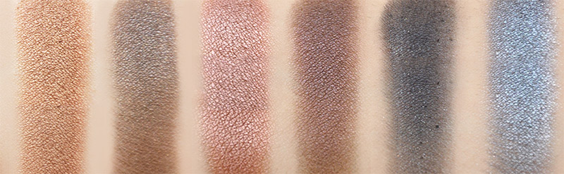 Urban Decay NAKED Palette Right Side Smog, Darkhorse, toasted, Hustle, Creep, Gunmetal