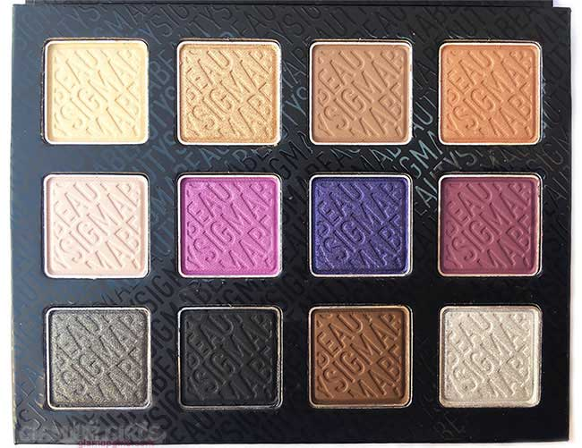 Sigma Beauty Nightlife Eyeshadow by Camila Coelho 12 shades