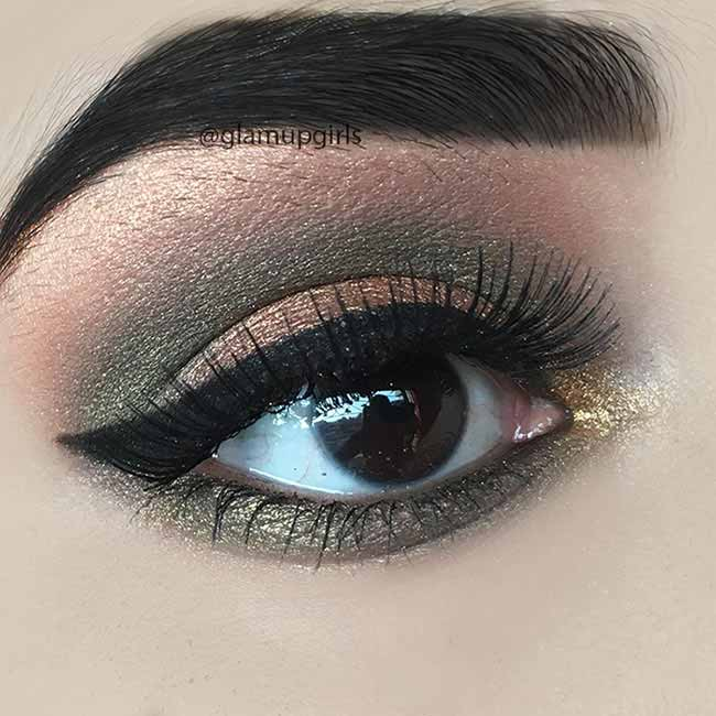 Green Metallic Eye Makeup Look - EOTD