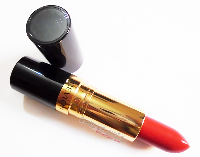 Revlon Super Lustrous Lipstick in Rich Girl Red - Review and Swatches