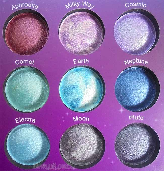 BH Cosmetics Galaxy Chic Eyeshadow Palette Right Side Shades
