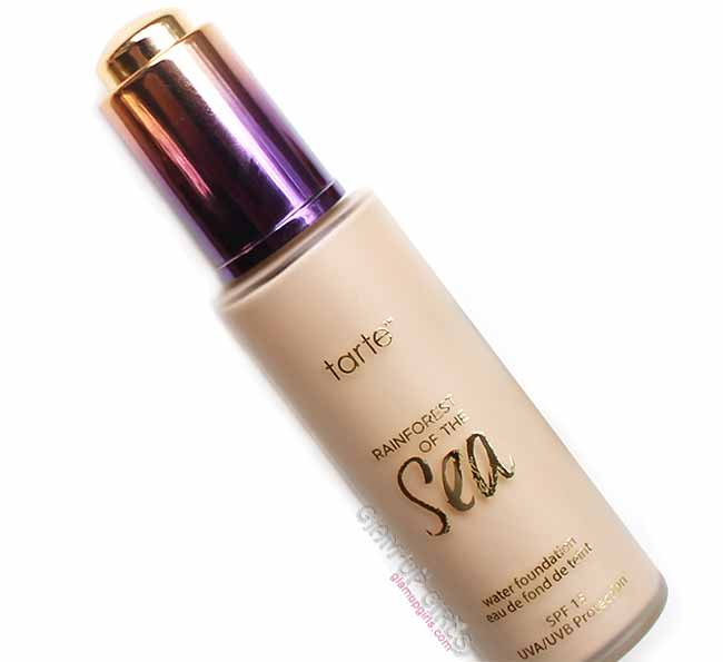 Tarte Rainforest of the Sea Water Foundation SPF15, Review and Swatches