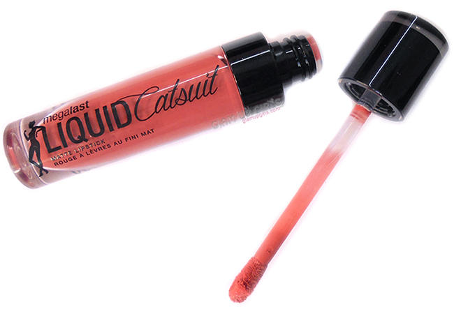 Wet n Wild MegaLast Liquid Catsuit Matte Lipstick in Coral Corruption