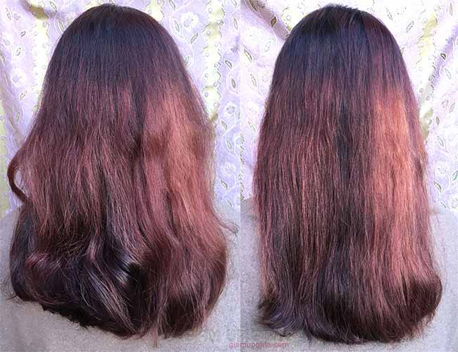 Irresistible Me Jade Hair Straightening Ceramic Brush - Before and After