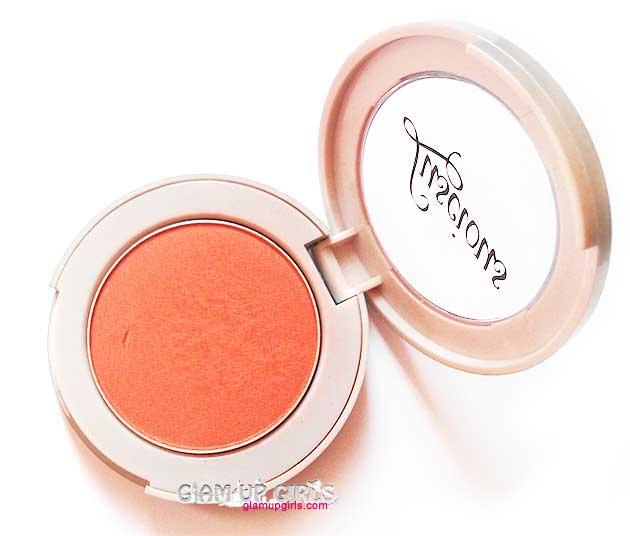 Luscious Cosmetics Powder Blush in Coral Glow - Review and Swatches
