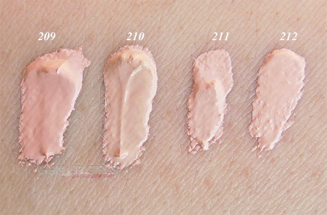 Dermacol Make-up Cover Foundation Swatches