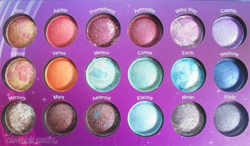 BH Cosmetics Galaxy Chic Eyeshadow Palette Close up