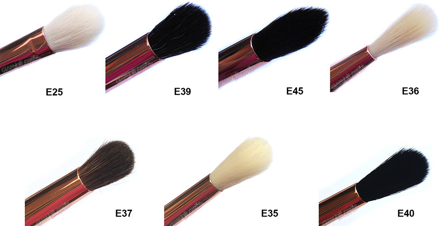 Sigma Beauty Ultimate Copper Eye Shadow Blending Brushes including E25, E39, E45, E36, E37, E35 and E40