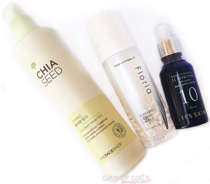 Toner, essence and ampoule
