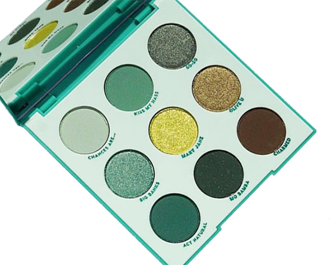 ColourPop Just My Luck Shadow Palette - Review and Swatches