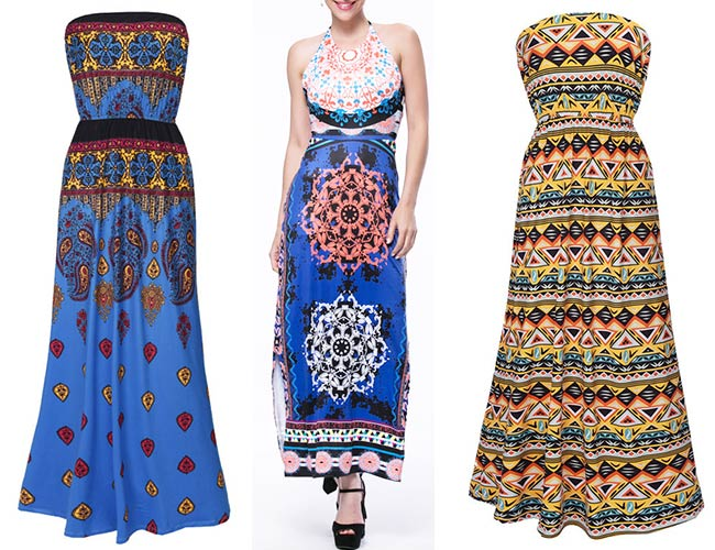 Ethnic and geometric dresses form Fashionmia