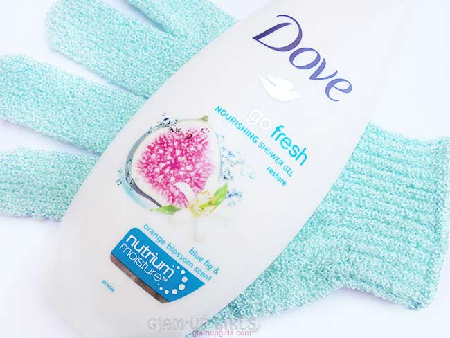 Dove Go Fresh Nourishing Shower Gel Restore with blue fig and orange blossom