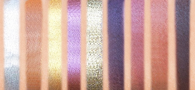 Swatches of  ColourPop Anna Eyeshadow Palette