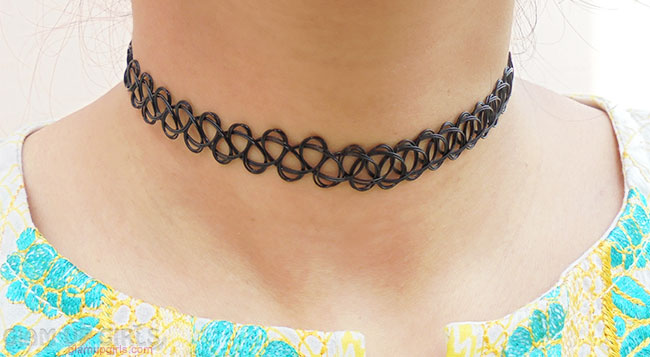 Hollow Out Woven Elastic Choker