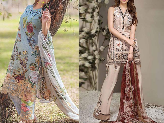 Lawn collection 2018 with chiffon duppatta