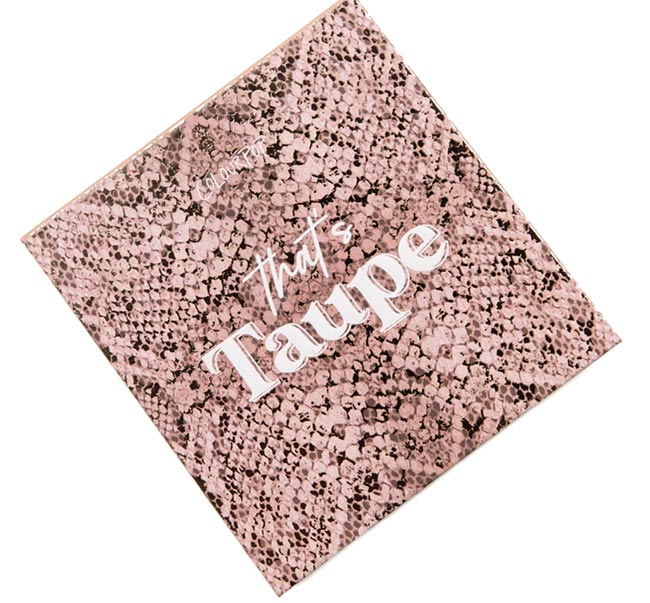 ColourPop That's Taupe Eyeshadow Palette Packaging
