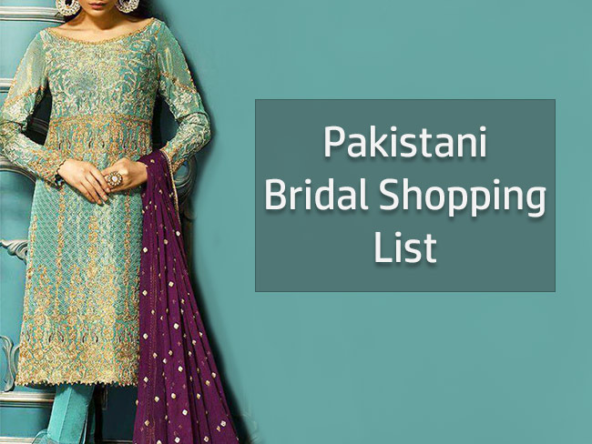 Pakistani Bridal Shopping List