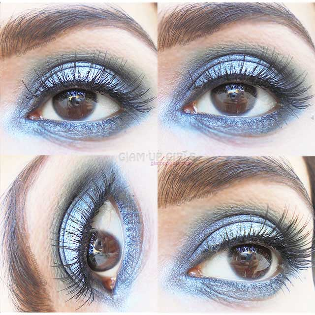 Festive Silver Smokey Eye Makeup - EOTD