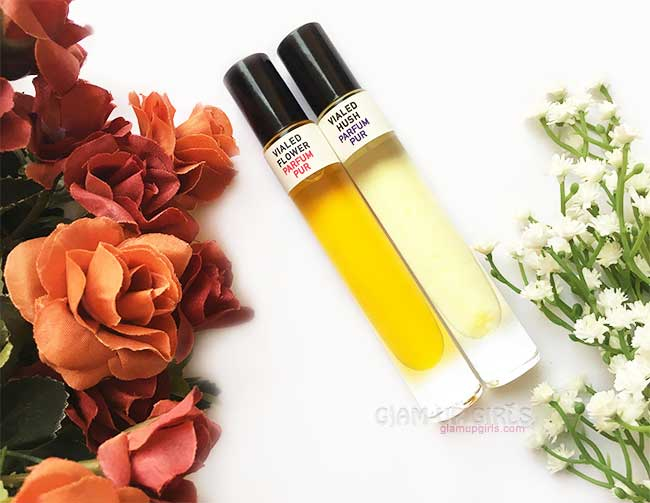 Natural Handmade Flower and Hush Parfum Pur by Call of Vialed - Review