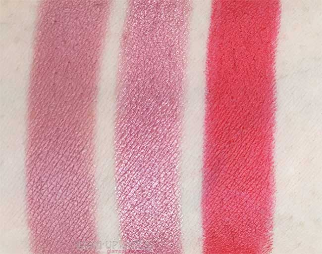 Luscious Cosmetics Signature Lipsticks in Dusky Pink, Crystal Pink and Poppy