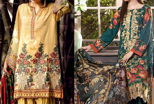 Embroidered lawn collection 2018