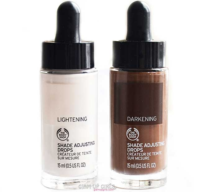 The Body Shop Foundation Shade Adjusting Drops - Review and Swatches
