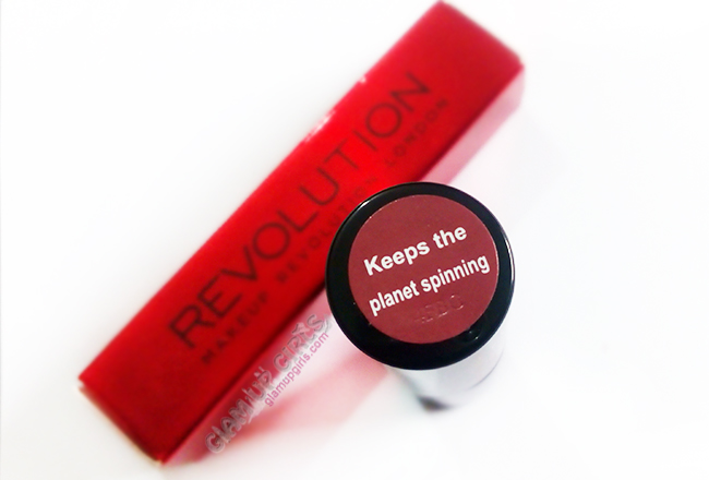 Makeup Revolution #Liphug in Keeps the Planet Spinning