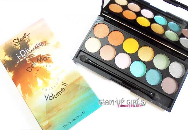 Sleek Makeup i Divine eyeshadow palette in Del Mar Voloume II - Review and Swatches