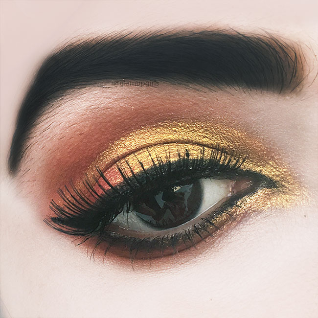 Orange Gold Eye Look with The Magic Mini Eyeshadow Palette by Juvia's Place