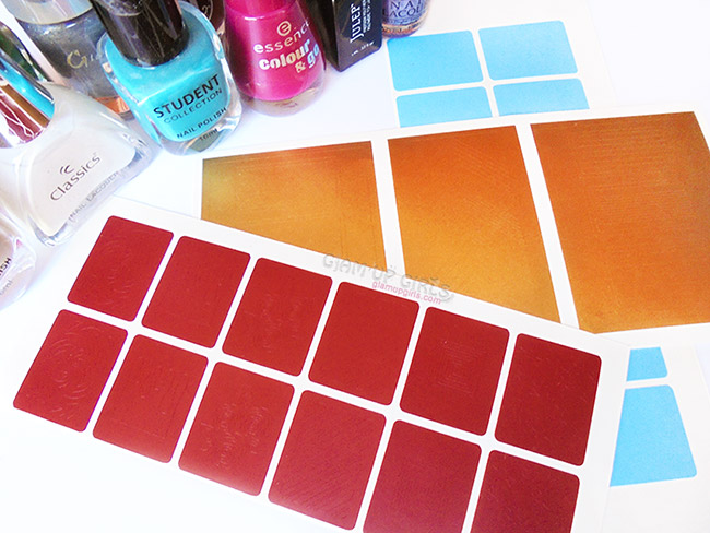 Nail Art Stencils from Kaymu - Review, NOTD and Tutorial