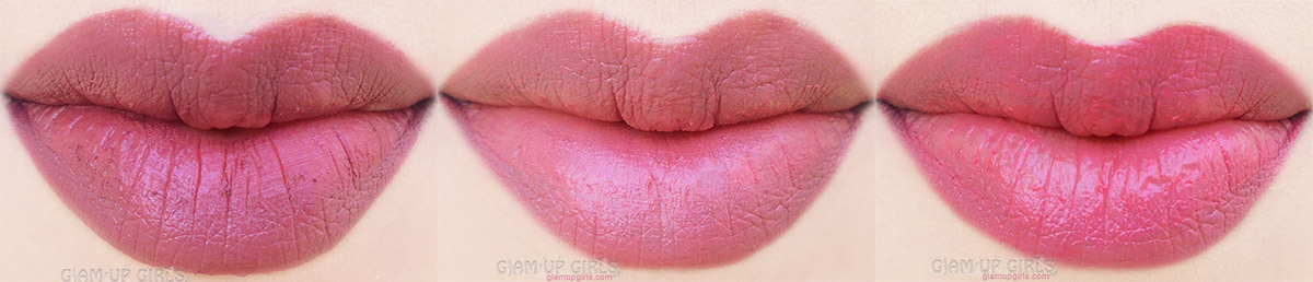 Lip Swatches of NYX Soft Matte Lip Cream in Budapest, Cannes and Ibiza