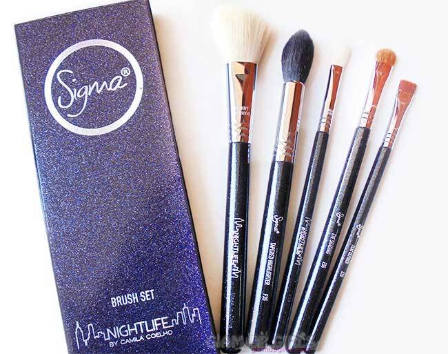 Sigma Beauty Face and Eye Brush Set Night fall by Camila Coelho - Review