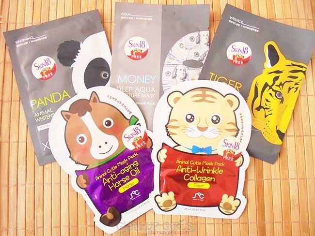 Xilix and SOC Animal Sheet Masks from Skin18 - Review
