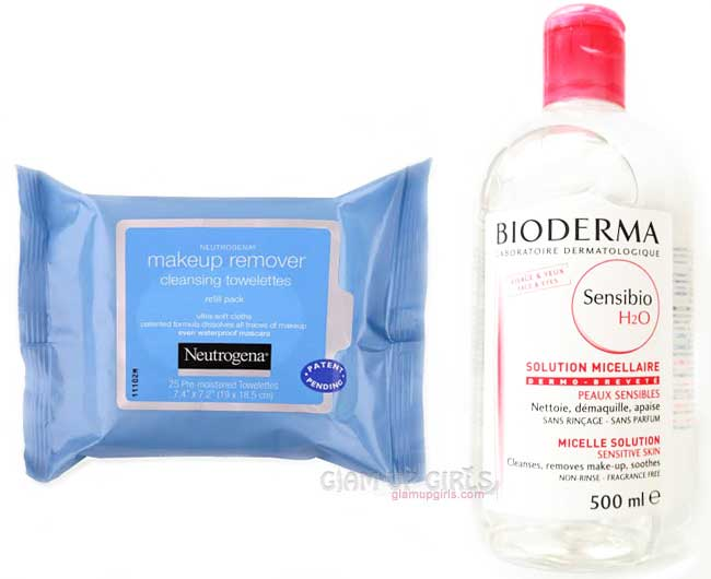 Makeup Remover Cleansing Towelettes and bioderma sensibio h2o micelle solution