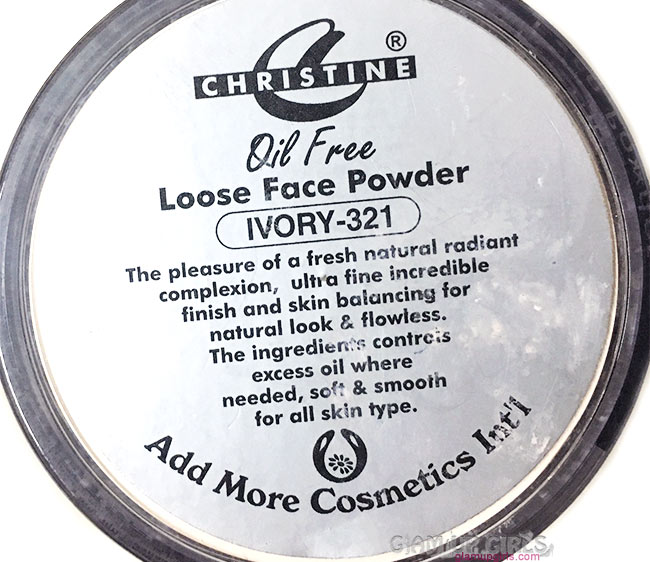 Christine Loose Powder in Ivory Details