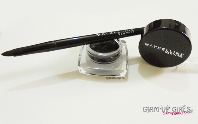 Maybelline Eye Studio Lasting Drama Gel Eyeliner upto 36 hrs in Black - Review and Swatches